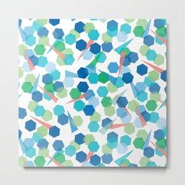 Tissue Confetti Metal Print