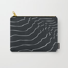 Black and white Mountain contour lines Carry-All Pouch