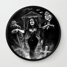 Vampira Plan 9 Wall Clock