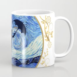 Mary Poppins Starry Night - Golden Floral Frame Coffee Mug