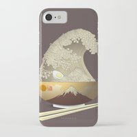 ramen iPhone & iPod Cases featuring The Great Ramen Wave by Sheharzad
