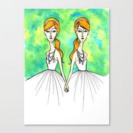 Keira & Kala Canvas Print