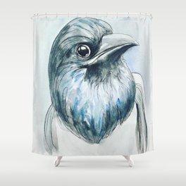 Magpie Portrait Shower Curtain