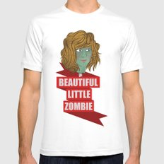 beautiful little zombie White SMALL Mens Fitted Tee