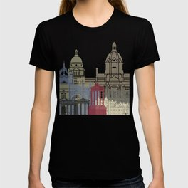 Edinburgh skyline poster T-shirt