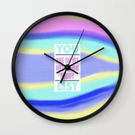 Mediation Buddy Wall Clock