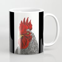 cock Mugs featuring cock by bmkoc