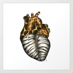 Heart gone wild - color  Art Print