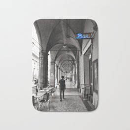 Black and white Bologna Street Photography Bath Mat