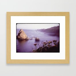 VOLCANIC ROCKS JUT FROM SEA NEAR KING MOUNTAIN COASTAL RANGE Framed Art Print