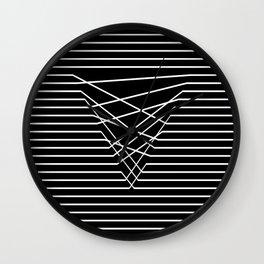 Line Complex Dark Triangle Wall Clock