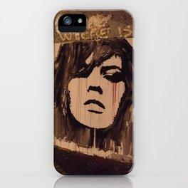 Graffiti Girl Paris iPhone Case