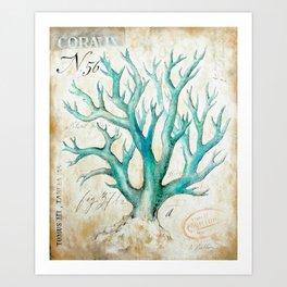 Blue Coral No. 2 Art Print