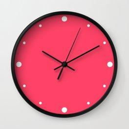 Sugar Heart (Pink) Color Wall Clock