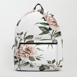 Faded Pink Rose Backpack