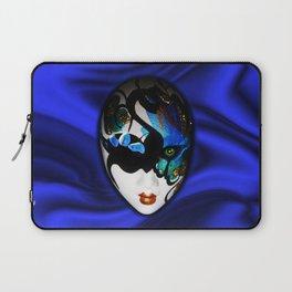 Blue Velvet Venice Mask  Laptop Sleeve
