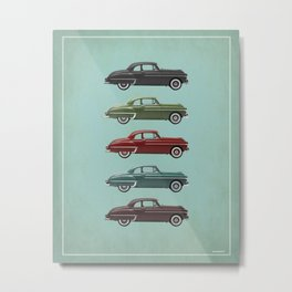 Five Oldsmobiles Metal Print