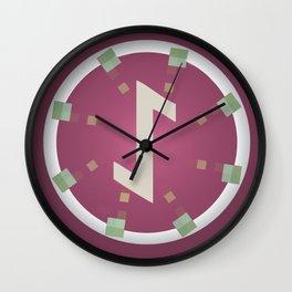 Power (Eihwaz Rune) Wall Clock