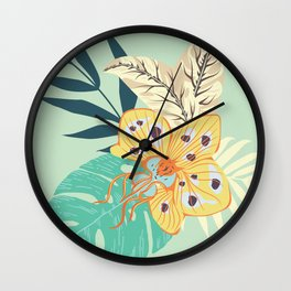 Orchid Bouquet Wall Clock
