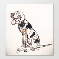 best friend Canvas Prints featuring Best Friend by Amanda Vieira