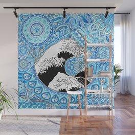 Kanagawa's wave Wall Mural