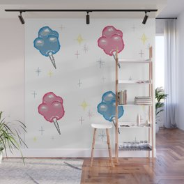 Cotton Candy Clouds Wall Mural