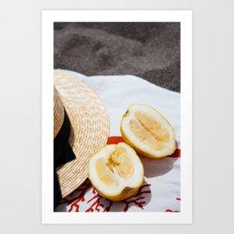 Lemons in Positano Art Print