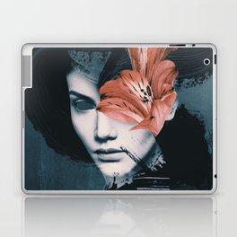 Red Flowers/Lady Portrait Laptop & iPad Skin