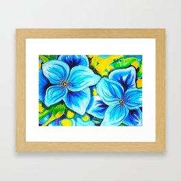 Blue Poppies 3 Framed Art Print