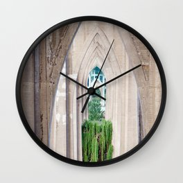 Cathedral Park Portland Wall Clock