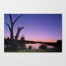 Purple Lake Canvas Print