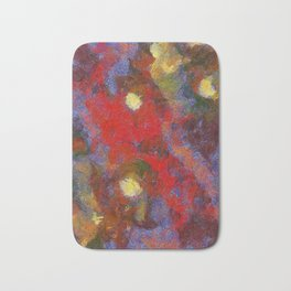 Abstract Art by Tito. Red Flame Bath Mat