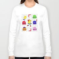 game Long Sleeve T-shirts featuring Winter game by andy_panda_