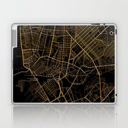 Black and gold Manila map Laptop & iPad Skin
