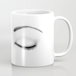 Closed Eyes Original Sketch Drawing - Eyes Art, Apparel and Accessories Coffee Mug