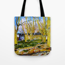 Avenue of Plane Trees near Arles Station, Vincent van Gogh Tote Bag
