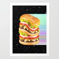 Big Burger Art Print
