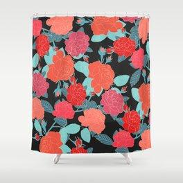 Rose Garden - Dark Shower Curtain