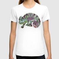 chameleon T-shirts featuring chameleon by Ruud van Koningsbrugge