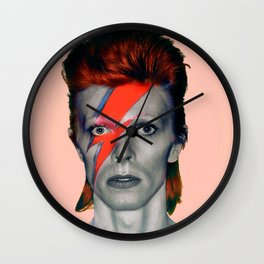 pinky bowie3 Wall Clock