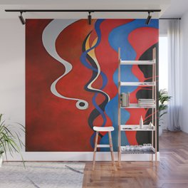 smart red Wall Mural