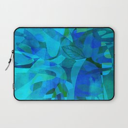 Blue For You abstract art by Ann Powell Laptop Sleeve