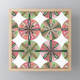 Compass Bloom Framed Mini Art Print