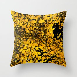 Ginko Leaves In California Throw Pillow