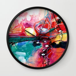Abstract Soul Dance 1 by Kathy Morton Stanion Wall Clock