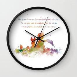 Little Prince Fox Wall Clock