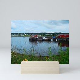 Fisherman's Wharf in Cape Breton Mini Art Print