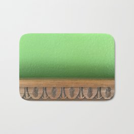 Green Wall, Wood Trim Bath Mat
