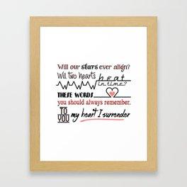 My Heart I Surrender - I Prevail Framed Art Print