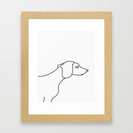 Minimal Dachshund Framed Art Print